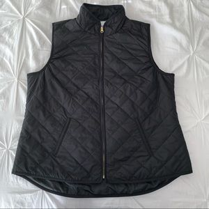 Black Vest with Gold Zipper